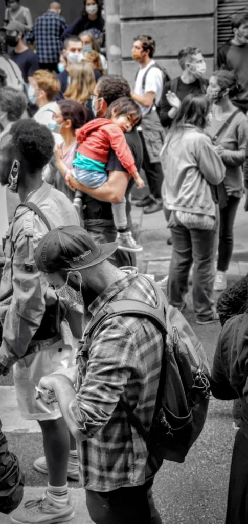 Baby protester